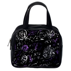 Abstract Mind   Purple Classic Handbags (one Side)