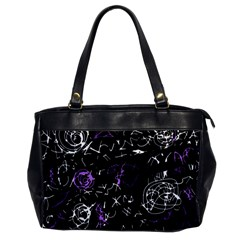 Abstract mind - purple Office Handbags