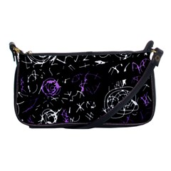 Abstract mind - purple Shoulder Clutch Bags