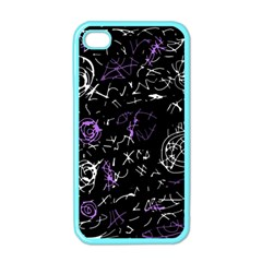 Abstract mind - purple Apple iPhone 4 Case (Color)