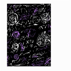 Abstract mind - purple Large Garden Flag (Two Sides)