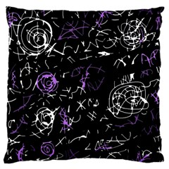 Abstract mind - purple Large Cushion Case (Two Sides)