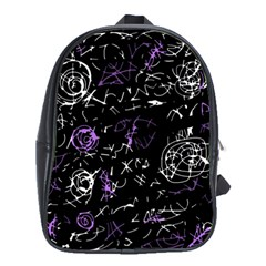 Abstract mind - purple School Bags (XL)