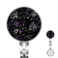 Abstract mind - purple Stainless Steel Nurses Watch