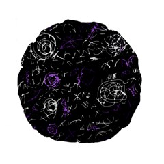 Abstract mind - purple Standard 15  Premium Flano Round Cushions