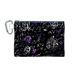 Abstract mind - purple Canvas Cosmetic Bag (M)