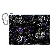 Abstract mind - purple Canvas Cosmetic Bag (L)