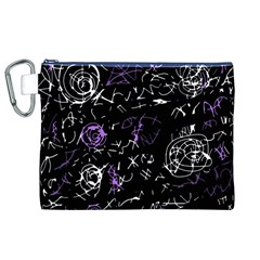 Abstract mind - purple Canvas Cosmetic Bag (XL)