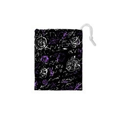 Abstract mind - purple Drawstring Pouches (XS)