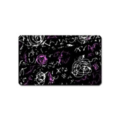Abstract mind - magenta Magnet (Name Card)
