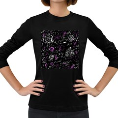 Abstract mind - magenta Women s Long Sleeve Dark T-Shirts