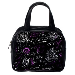 Abstract mind - magenta Classic Handbags (One Side)