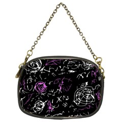 Abstract mind - magenta Chain Purses (Two Sides)