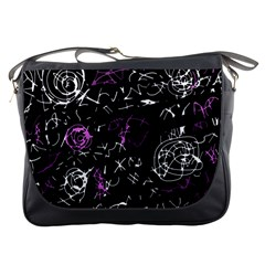 Abstract mind - magenta Messenger Bags