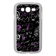 Abstract mind - magenta Samsung Galaxy Grand DUOS I9082 Case (White)