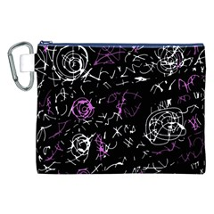 Abstract mind - magenta Canvas Cosmetic Bag (XXL)