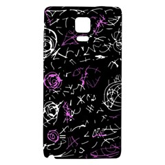 Abstract mind - magenta Galaxy Note 4 Back Case