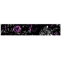 Abstract mind - magenta Flano Scarf (Large)