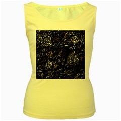 Abstract mind - brown Women s Yellow Tank Top