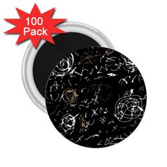 Abstract mind - brown 2.25  Magnets (100 pack)