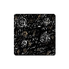 Abstract mind - brown Square Magnet