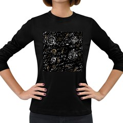 Abstract mind - brown Women s Long Sleeve Dark T-Shirts