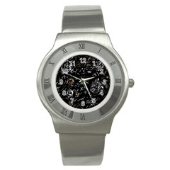 Abstract mind - brown Stainless Steel Watch