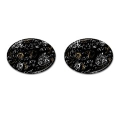 Abstract mind - brown Cufflinks (Oval)