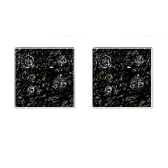 Abstract mind - brown Cufflinks (Square)