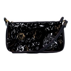 Abstract mind - brown Shoulder Clutch Bags