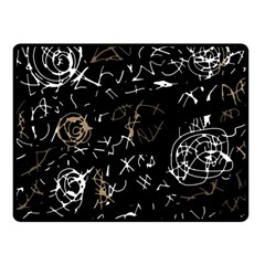 Abstract mind - brown Fleece Blanket (Small)