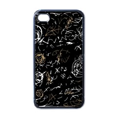 Abstract mind - brown Apple iPhone 4 Case (Black)