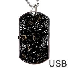 Abstract mind - brown Dog Tag USB Flash (Two Sides)