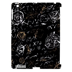 Abstract mind - brown Apple iPad 3/4 Hardshell Case (Compatible with Smart Cover)