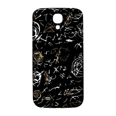 Abstract mind - brown Samsung Galaxy S4 I9500/I9505  Hardshell Back Case