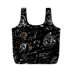Abstract mind - brown Full Print Recycle Bags (M)