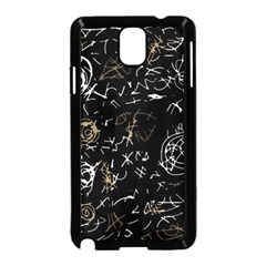 Abstract mind - brown Samsung Galaxy Note 3 Neo Hardshell Case (Black)