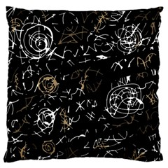 Abstract mind - brown Large Flano Cushion Case (One Side)