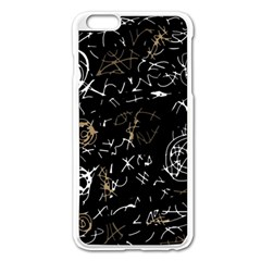 Abstract mind - brown Apple iPhone 6 Plus/6S Plus Enamel White Case