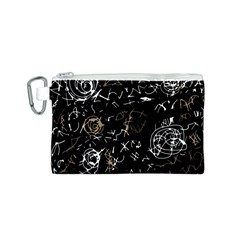 Abstract mind - brown Canvas Cosmetic Bag (S)