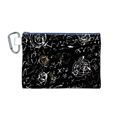 Abstract mind - brown Canvas Cosmetic Bag (M)
