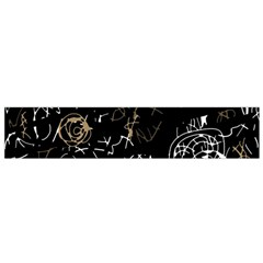 Abstract mind - brown Flano Scarf (Small)