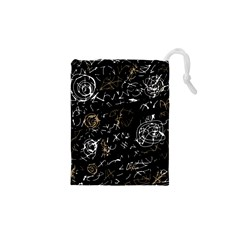 Abstract mind - brown Drawstring Pouches (XS)