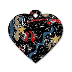 Confusion Dog Tag Heart (Two Sides)