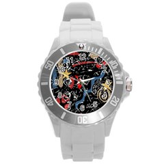 Confusion Round Plastic Sport Watch (L)