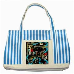 Confusion 2 Striped Blue Tote Bag