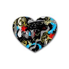 Confusion 2 Rubber Coaster (Heart)