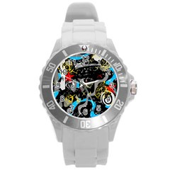Confusion 2 Round Plastic Sport Watch (L)