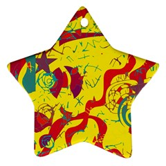 Yellow confusion Ornament (Star)