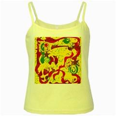 Yellow confusion Yellow Spaghetti Tank